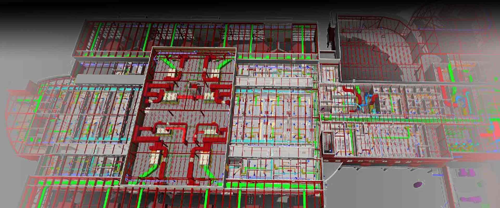 Bim Hvac Services Drawing Autocad Model