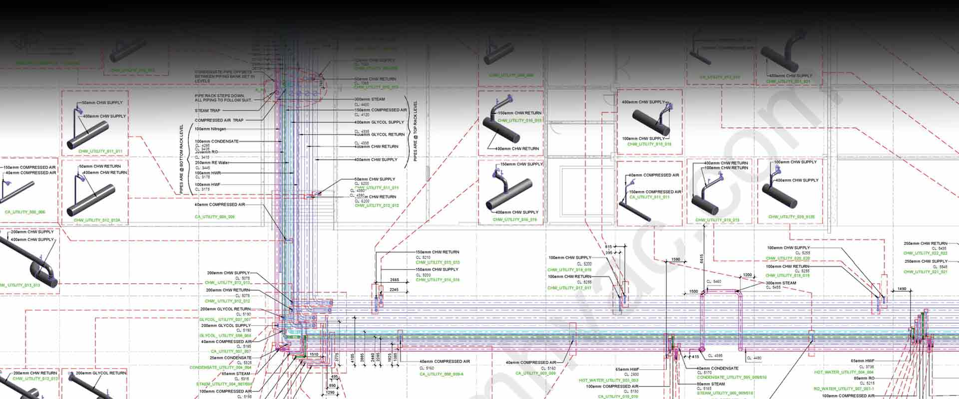 Bim Hvac Services Drawing Samples Piping