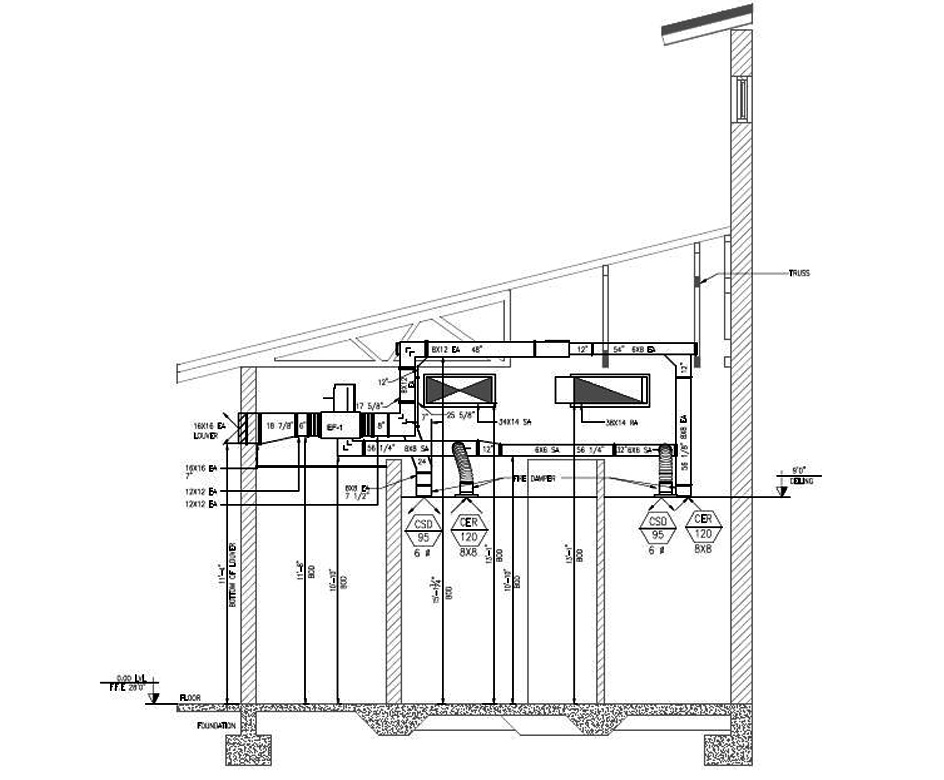 HVAC Shop Drawings | Ductwork and Piping Shop Drawings | Hvac Drawing Conventions |  | HVAC BIM