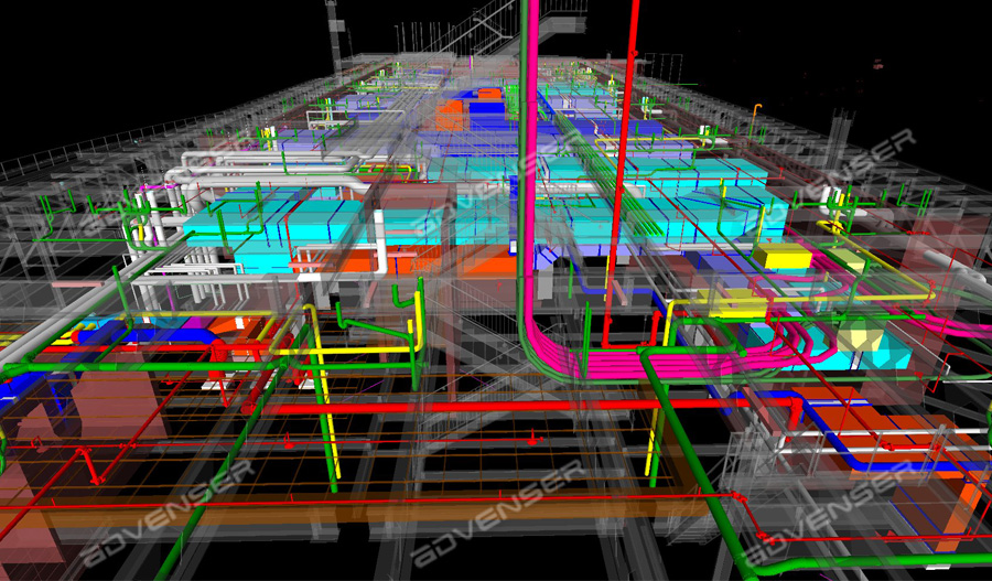 HVAC pipe modeling services