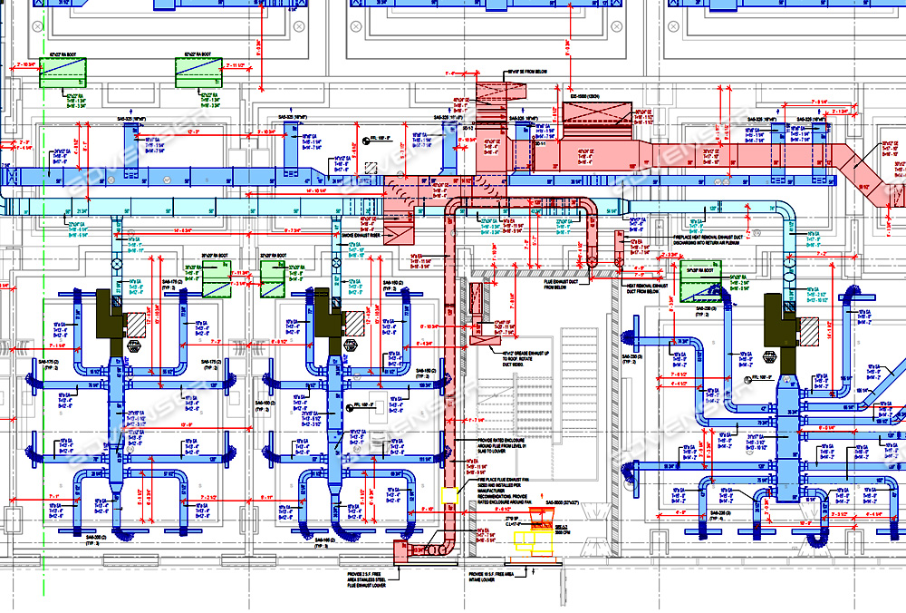HVAC Duct drawing
