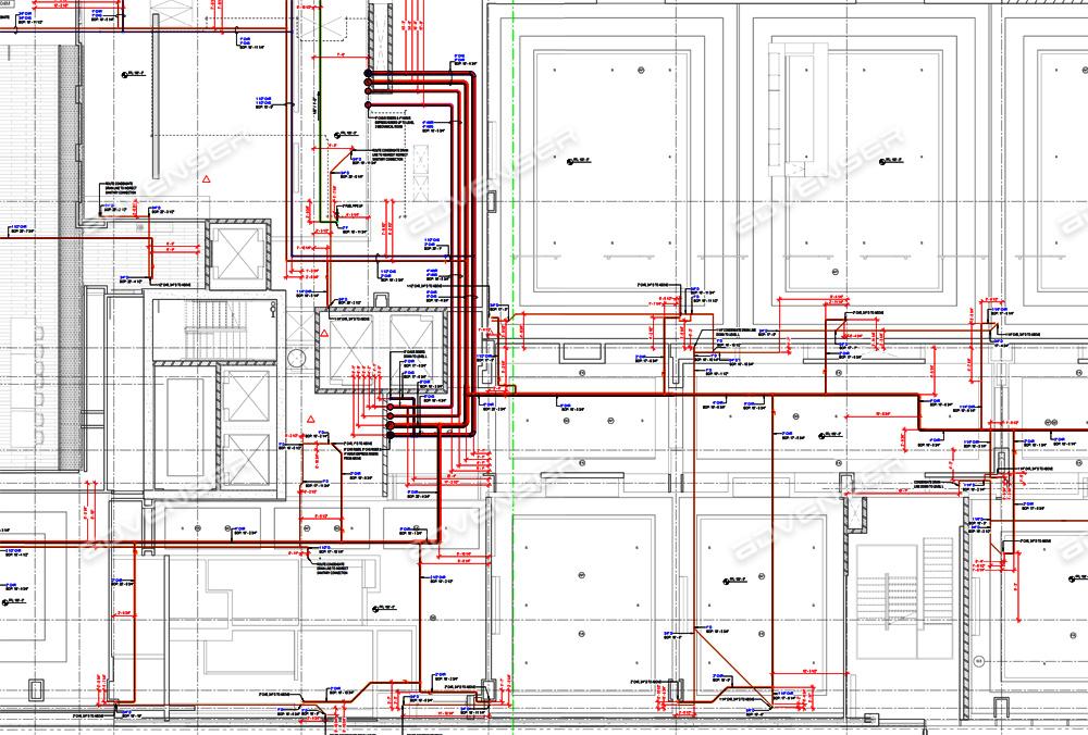 HVAC pipe drawing