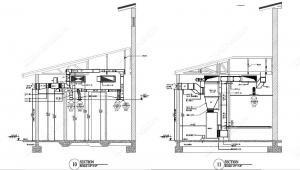 hvac duct section drawing